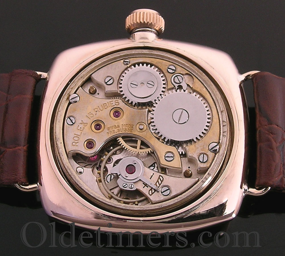 1920s 9ct rose gold vintage rolex oyster watch 3742 olde timers for Vintage rolex oyster