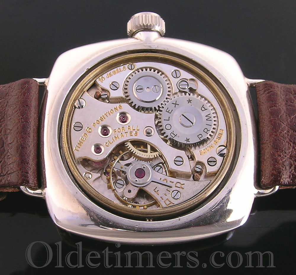 1920s cushion silver vintage rolex oyster watch olde timers for Vintage rolex oyster