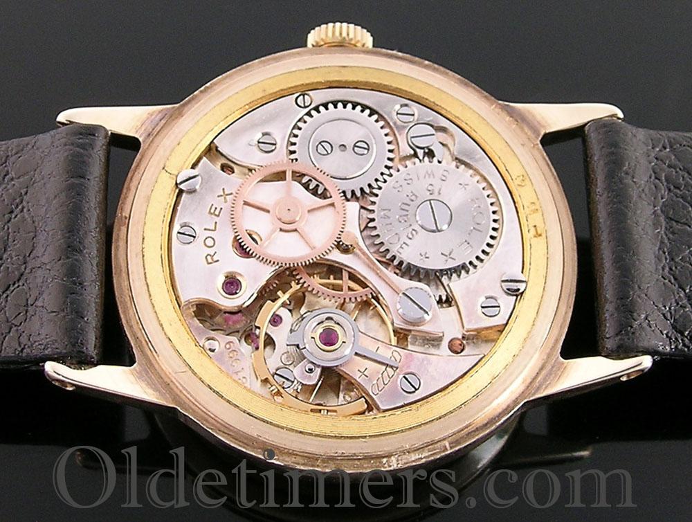 1950s 9ct gold round vintage rolex watch 3689 olde timers
