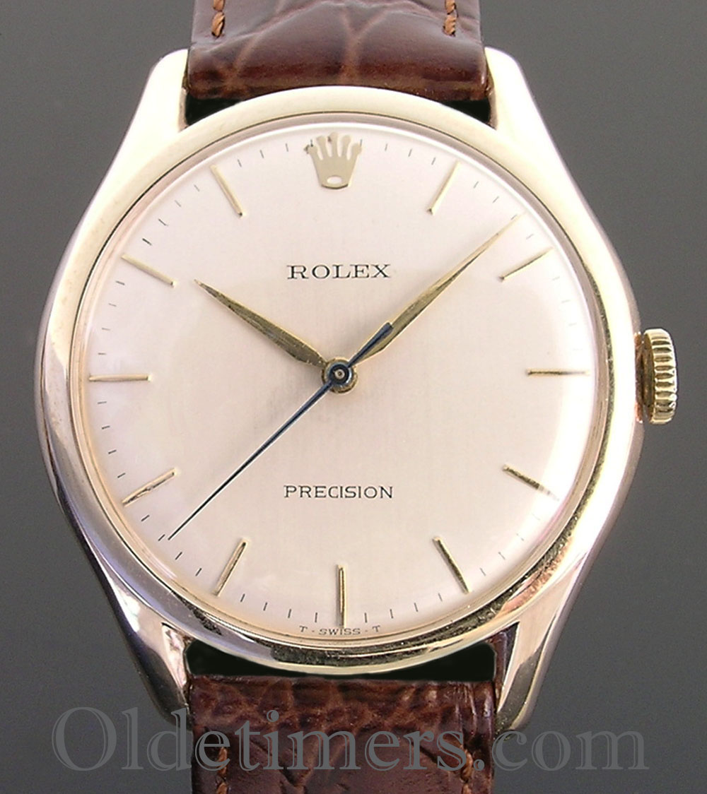 1960 9ct gold vintage rolex precision watch olde timers